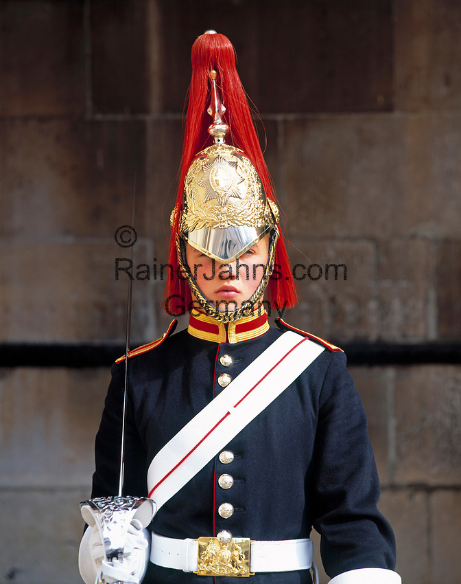 England, London Whitehall: Wachposten vor Horse Guards | United Kingdom, London Whitehall: Guard at Horse Guards