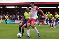 Noor Husin of Stevenage and Randell Williams of Exeter City during Stevenage vs Exeter City, Sky Bet EFL League 2 Football at the Lamex Stadium on 10th August 2019