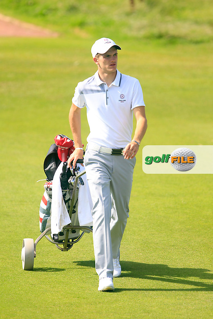 Ashton Turner (ENG) during the Home Internationals day 2 foursomes matches supported by Fairstone Financial Management Ltd. at Royal Portrush Golf Club, Portrush, Co.Antrim, Ireland.  13/08/2015.<br /> Picture: Golffile | Fran Caffrey<br /> <br /> <br /> All photo usage must carry mandatory copyright credit (&copy; Golffile | Fran Caffrey)