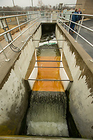 NWA Democrat-Gazette/BEN GOFF @NWABENGOFF<br /> Treated water discharges to Osage Creek Thursday, Nov. 21, 2019, at the Rogers wastewater treatment plant.