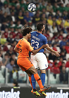 International friendly football match Italy vs The Netherlands, Allianz Stadium, Turin, Italy, June 4, 2018. <br /> Italy's Bryan Cristante (r) in action with Netherlands' Nathan Aké (l) during the international friendly football match between Italy and The Netherlands at the Allianz Stadium in Turin on June 4, 2018.<br /> UPDATE IMAGES PRESS/Isabella Bonotto