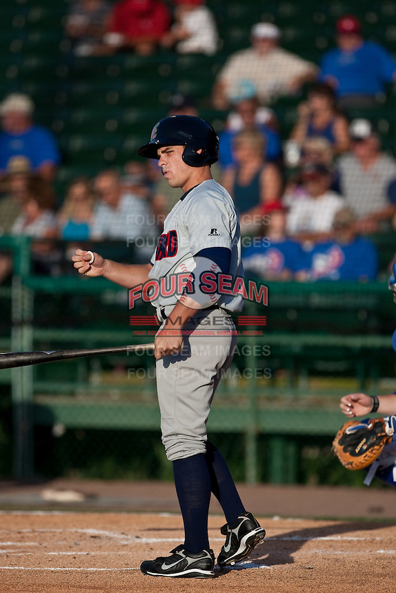 Matt Cline (3) of the Brevard County Manatees during a game vs. the Daytona Beach Cubs May 25 2010 at Jackie Robinson Ballpark in Daytona Beach, Florida. Daytona won the game against Brevard by the score of 5-3.  Photo By Scott Jontes/Four Seam Images