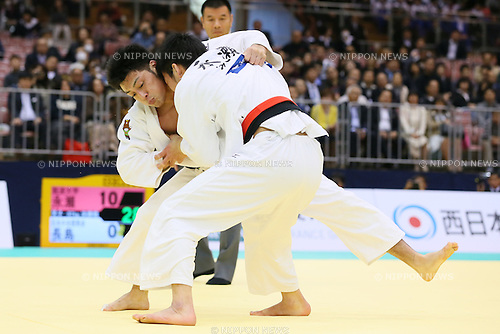 (L-R) Keita Maruyama, Takanori Nagase,<br /> APRIL 6, 2014 - Judo : <br /> All Japan Selected Judo Championships <br /> Men's -81kg Final<br /> at Fukuoka Convention Center, Fukuoka, Japan. <br /> (Photo by Yohei Osada/AFLO SPORT)