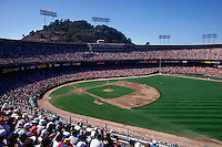 SAN FRANCISCO, CA - General overall stadium view of the home of the San Francisco Giants, Candlestick Park during the San Francisco Giants game against the Cincinnati Reds in San Francisco, California on September 27, 1992. (Photo by Brad Mangin)
