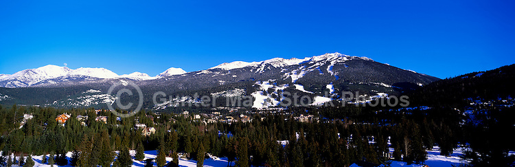 Blackcomb Mountain Ski Runs, Whistler Ski Resort, BC, British Columbia, Canada, Winter - Panoramic View