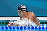 Engeland, London, 28 juli 2012.Olympische Spelen London.Zwemmer Michael Phelps Amerikaans Fenomeen in actie