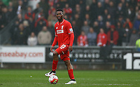 Daniel Sturridge of Liverpool shows a look of dejection after Andre Ayew of Swansea City scores a goal to make the score 1-0 during the Barclays Premier League match between Swansea City and Liverpool played at the Liberty Stadium, Swansea on 1st May 2016