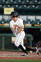 Bradenton Marauders third baseman Eric Wood (48) at bat during a game against the Jupiter Hammerheads on June 25, 2014 at McKechnie Field in Bradenton, Florida.  Bradenton defeated Jupiter 11-0.  (Mike Janes/Four Seam Images)