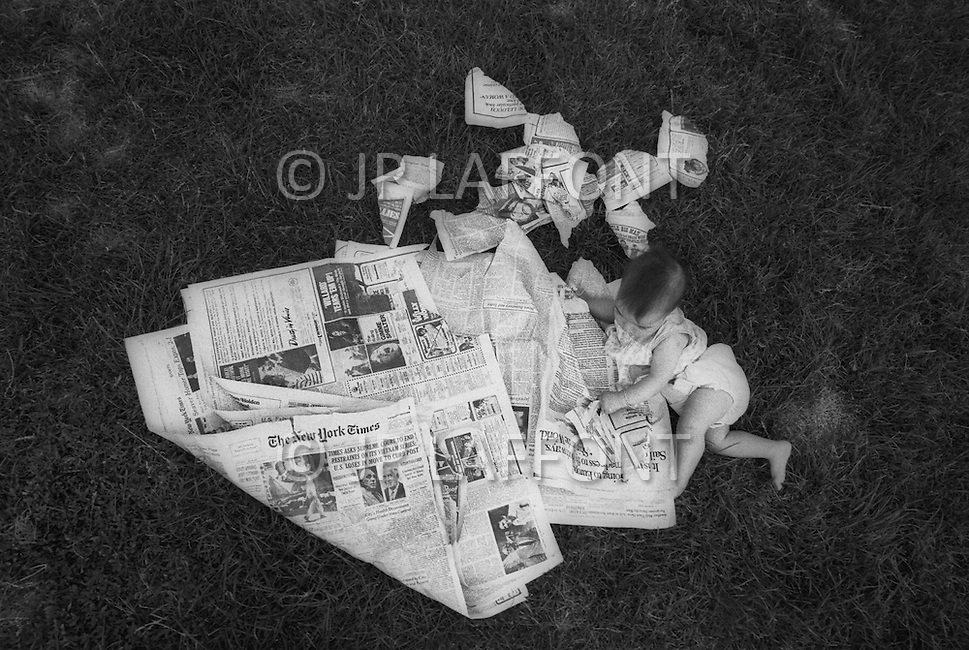 """New York City, NY, June 13h, 1971. Everybody shocked by the New York Times revelation on Vietnam war, it is the first of the  serie og three articles known today as """"Pentagon Papers"""" involving Daniel Ellsberg."""