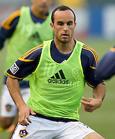 LA Galaxy forward Landon Donovan (10) warming up before the match at Home Depot Center stadium in Carson, California on Saturday May 15, 2010.  .