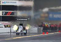 Sep 14, 2019; Mohnton, PA, USA; NHRA top fuel driver Leah Pritchett during qualifying for the Reading Nationals at Maple Grove Raceway. Mandatory Credit: Mark J. Rebilas-USA TODAY Sports