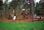 A07WTA Children's playground Rendlesham forest Suffolk England