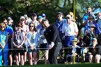 Jon Rahm (ESP) chips over 6 during round 4 of the World Golf Championships, Dell Technologies Match Play, Austin Country Club, Austin, Texas, USA. 3/25/2017.<br /> Picture: Golffile | Ken Murray<br /> <br /> <br /> All photo usage must carry mandatory copyright credit (&copy; Golffile | Ken Murray)