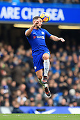 2nd December 2017, Stamford Bridge, London, England; EPL Premier League football, Chelsea versus Newcastle United; Daniel Drinkwater of Chelsea heads the ball