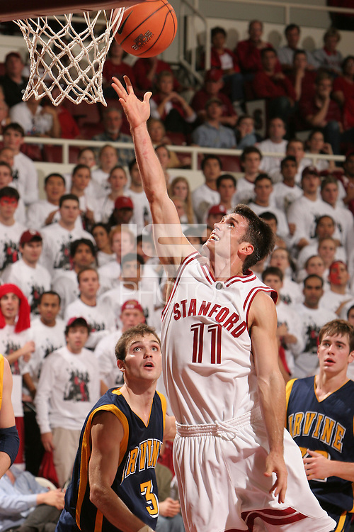 19 November 2005: Chris Hernandez from Stanford's 79-63 loss to UC Irvine at Maples Pavilion in Stanford, CA.
