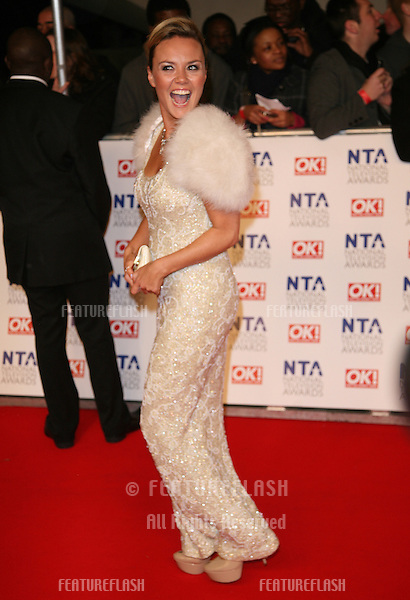 Charlie Brooks arriving for the National Television Awards, O2, London. 25/01/2012 Picture by: Alexandra Glen / Featureflash