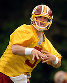 Ashburn, VA - June 16, 2007 -- Washington Redskin rookie quarterback Jordan Palmer (3) throws a pass as he  participates in the second day of the second and final mini-camp at Redskin Park in Ashburn, Virginia on Saturday, June 16, 2007..Credit: Ron Sachs / CNP