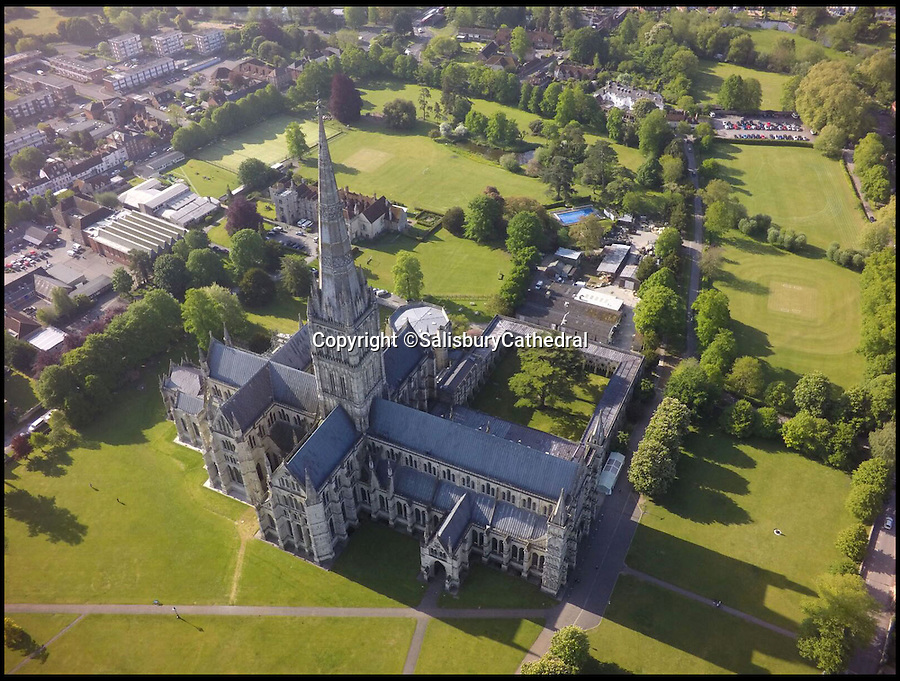 BNPS.co.uk (01202 558833)<br /> Pic: SalisburyCathedral/BNPS<br /> <br /> In-spire-ing View..<br /> <br /> A newly revealed gap in the floor of Salisbury Cathedral's spire has uncovered a vertigo inducing view down on to the ceiling of the famous old church's crossing 120 ft below.