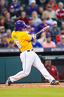 LSU Tigers designated hitter Chris Chinea (26) swings the bat during the Houston College Classic against the Nebraska Cornhuskers on March 8, 2015 at Minute Maid Park in Houston, Texas. LSU defeated Nebraska 4-2. (Andrew Woolley/Four Seam Images)