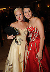 Duchesses Carolyn Scruggs ans Kayleigh Silva at the San Luis Salute to Mardi Gras in Galveston Friday Feb. 13,2015.(Dave Rossman Photo)