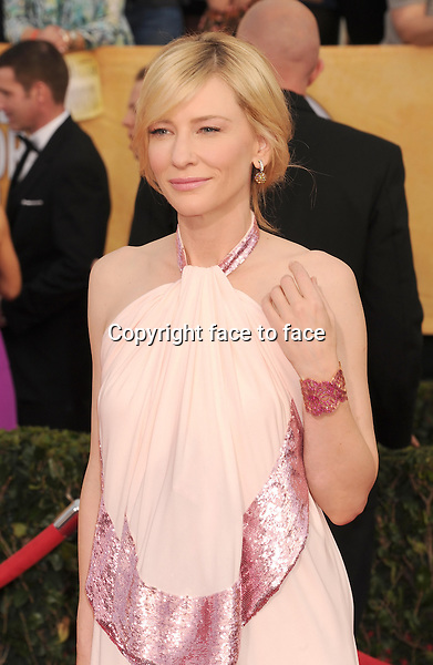 LOS ANGELES, CA- JANUARY 18: Actress Cate Blanchett arrives at the 20th Annual Screen Actors Guild Awards at The Shrine Auditorium on January 18, 2014 in Los Angeles, California.<br />