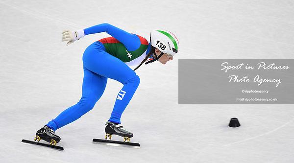 Martina Valcepina (ITA). Short track. Gangneung ice arena. Pyeongchang2018 winter Olympics. Gangneung. Republic of Korea. 10/02/2018. ~ MANDATORY CREDIT Garry Bowden/SIPPA - NO UNAUTHORISED USE - +44 7837 394578