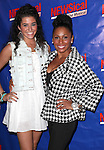Angelica Salem and Maya Days attending the Opening Night Performance of Perez Hilton in 'NEWSical The Musical' at the Kirk Theatre  in New York City on September 17, 2012.