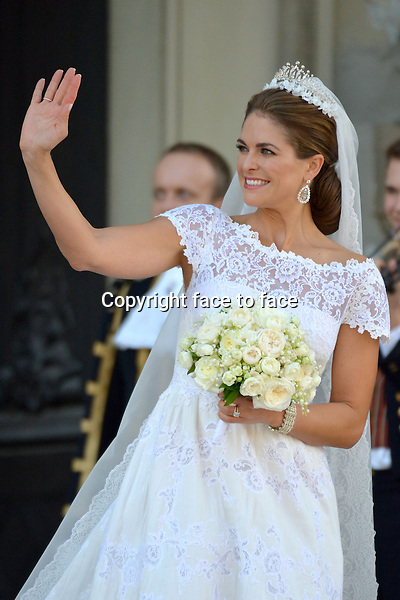 . The royal wedding of Princess Madeleine of Sweden and Chris O'Neill in Stockholm, 08.06.2013.<br /> Credit: Wiese/Timm/face to face