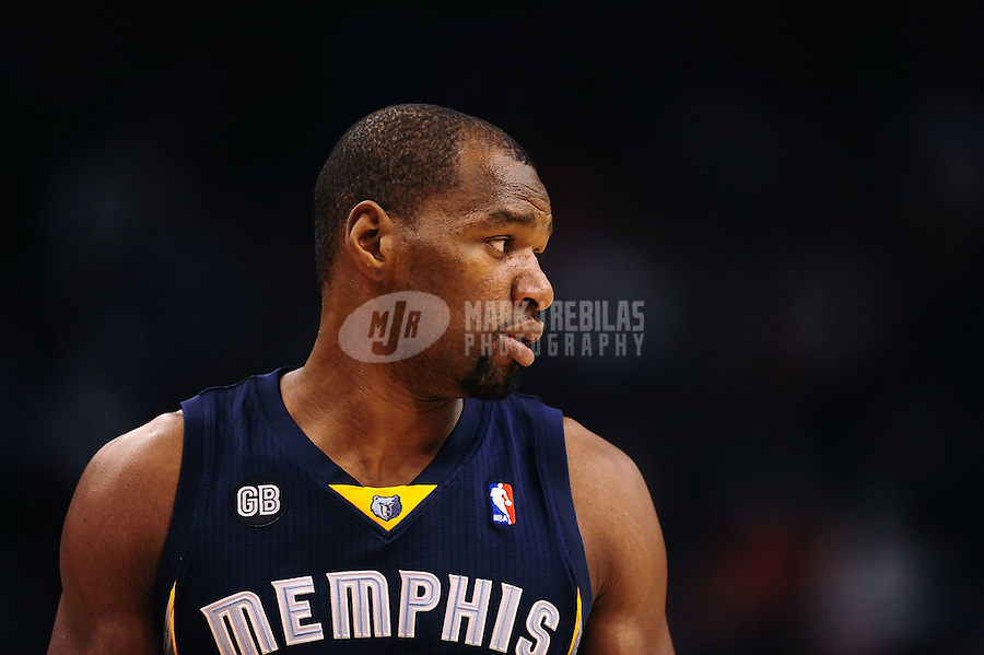 Jan. 28, 2012; Phoenix, AZ, USA; Memphis Grizzlies guard/forward Sam Young against the Phoenix Suns at the US Airways Center. The Suns defeated the Grizzlies 86-84. Mandatory Credit: Mark J. Rebilas-USA TODAY Sports