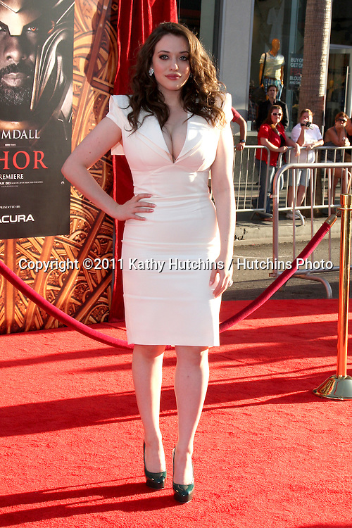 """LOS ANGELES - MAY 2:  Kat Dennings arriving at the """"Thor"""" World Premiere at El Capitan theater on May 2, 2011 in Los Angeles, CA"""