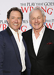 Kevin McCollum and Victor Garber attends 'The Play That Goes Wrong' Broadway Opening Night at the Lyceum Theatre on April 2, 2017 in New York City.