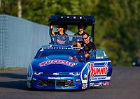 Aug 18, 2017; Brainerd, MN, USA; NHRA pro stock driver Jason Line during qualifying for the Lucas Oil Nationals at Brainerd International Raceway. Mandatory Credit: Mark J. Rebilas-USA TODAY Sports