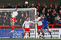 Jon Ashton of Stevenage heads clear.- Stevenage v Leyton Orient- npower League 1 - Lamex Stadium, Stevenage - 2nd January 2012  .© Kevin Coleman 2012