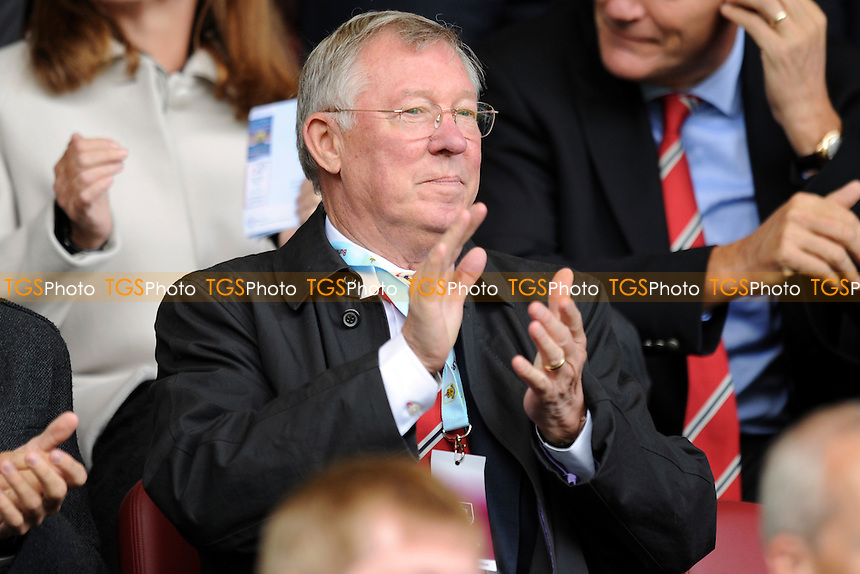 Sir Alex Ferguson attends the match - Burnley vs Manchester United - Barclays Premier League Football at Turf Moor, Burnley, Lancashire - 30/08/14 - MANDATORY CREDIT: Greig Bertram/TGSPHOTO - Self billing applies where appropriate - contact@tgsphoto.co.uk - NO UNPAID USE
