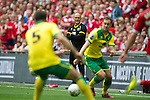 Norwich City 2 Middlesbrough 0, 25/05/2015. Wembley Stadium, Championship Play Off Final. Manager Alex Neil watches the action from the sideline. A match worth £120m to the victors. On the day Norwich City secured an instant return to the Premier League with victory over Middlesbrough in front of 85,656. Photo by Simon Gill.