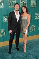 HOLLYWOOD, CA - AUGUST 7: Val Chmerkovskiy and Jenna Johnson at the premiere of Crazy Rich Asians at the TCL Chinese Theater in Hollywood, California on August 7, 2018. <br /> CAP/MPI/DE<br /> &copy;DE//MPI/Capital Pictures