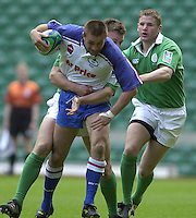 25/05/2002 (Saturday).Sport -Rugby Union - London Sevens.Ireland vs Russia[Mandatory Credit, Peter Spurier/ Intersport Images].