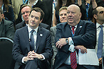© Joel Goodman - 07973 332324 . 13/06/2016 . Liverpool , UK . Chancellor of the Exchequer , GEORGE OSBORNE and Mayor of Liverpool JOE ANDERSON at the International Festival for Business at the Liverpool Exhibition Centre . Photo credit : Joel Goodman