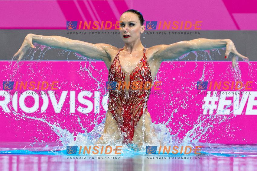 ISHCHENKO Natalia RUS Russia <br /> Solo Free<br /> London, Queen Elizabeth II Olympic Park Pool <br /> LEN 2016 European Aquatics Elite Championships <br /> Synchronized Swimming  <br /> Day 01 09-05-2016<br /> Photo Andrea Staccioli/Deepbluemedia/Insidefoto