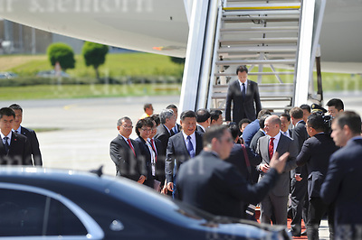 July 06-17,HH Airport, Hamburg,Germany<br /> G20 world leaders arrival at Hamburg Airport.<br /> Chinese leader Xi Jinping und chinese First Lady Peng Liyuan are welcomed by Hamburg&rsquo;s Mayor Olaf Scholz as they arrive at Hamburg Airport.
