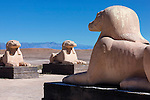 Animal statue in the Oscar Film Studios in Ouarzazate, Morocco.