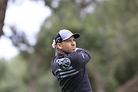 Sergio Garcia (ESP) tees off the 11th tee during Saturday's storm delayed Round 2 of the Andalucia Valderrama Masters 2018 hosted by the Sergio Foundation, held at Real Golf de Valderrama, Sotogrande, San Roque, Spain. 20th October 2018.<br /> Picture: Eoin Clarke | Golffile<br /> <br /> <br /> All photos usage must carry mandatory copyright credit (&copy; Golffile | Eoin Clarke)