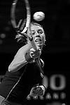 27.04.2018, Porsche-Arena, Stuttgart, GER, Porsche Tennis Grand Prix 2018, Viertelfinale, Anett Kontaveit (EST) vs Anastasia Pavlyuchenkova (RUS), im Bild Anett Kontaveit (EST)<br /> <br /> Foto © nordphoto / Hafner