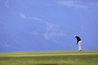 Matthew Fitzpatrick (ENG) putts on the 7th green during Sunday's Final Round of the 2017 Omega European Masters held at Golf Club Crans-Sur-Sierre, Crans Montana, Switzerland. 10th September 2017.<br /> Picture: Eoin Clarke | Golffile<br /> <br /> <br /> All photos usage must carry mandatory copyright credit (&copy; Golffile | Eoin Clarke)