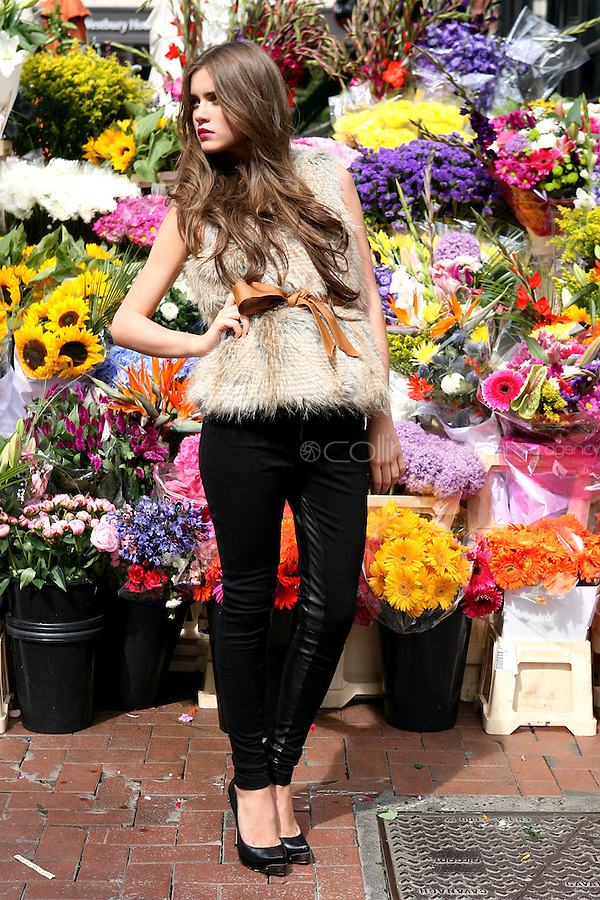 5/8/2010. BT2 AUTUMN WINTER COLLECTION. Model Naoise Tan is pictured wearing Lipsey Gilet 85 EUROS and a Selected black beauty legging 69.95 EURO in Dublin at the preview of the BT2 Autumn winter collection. Picture James Horan/Collins