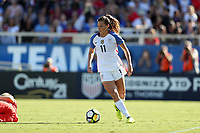 Cary, NC - Sunday October 22, 2017: Sofia Huerta during an International friendly match between the Women's National teams of the United States (USA) and South Korea (KOR) at Sahlen's Stadium at WakeMed Soccer Park. The U.S. won the game 6-0.