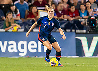 FRISCO, TX - MARCH 11: Abby Dahlkemper #7 of the United States dribbles during a game between Japan and USWNT at Toyota Stadium on March 11, 2020 in Frisco, Texas.