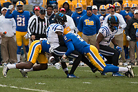 Pitt defensive back Terrish Webb (2) makes a tackle. The Pitt Panther defeated the Duke Blue Devils 56-14 at Heinz Field in Pittsburgh, Pennsylvania on November 19, 2016.