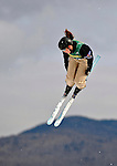 19 January 2008: Deidra Dionne from Canada jumps  in practice prior to the Qualification Round of the FIS World Cup Freestyle Ladies' Aerial Competition at the MacKenzie Ski Jump Complex in Lake Placid, New York, USA...Mandatory Photo Credit: Ed Wolfstein Photo