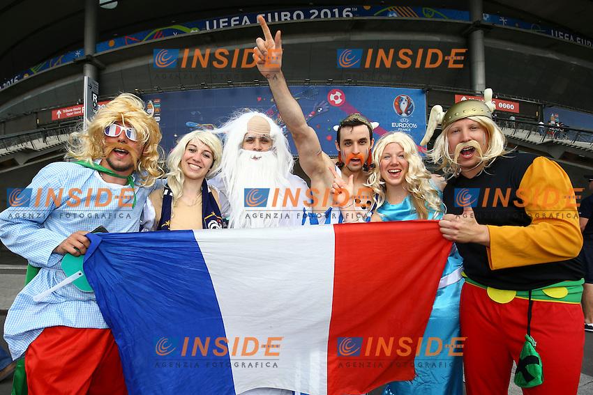 Tifosi Francia Supporters <br /> Paris 10-07-2016 Stade Saint Denis Football Euro2016 Portugal - France / Portogallo - Francia Final - Finale <br /> Foto Gwendoline Le Goff / Panoramic / Insidefoto